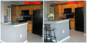 Jacksonville Florida condo before and after picture