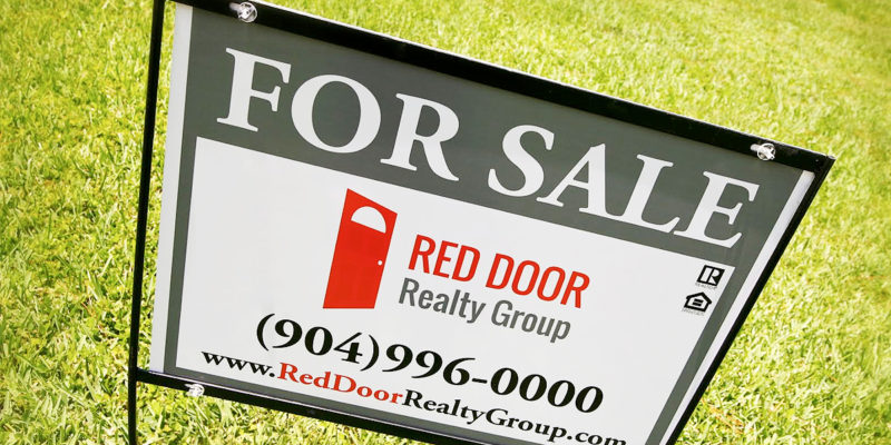 Red Door Realty Group Home For Sale sign - Jacksonville Florida