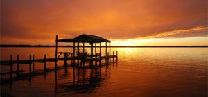 St. Johns River dock sunset