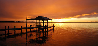 St. Johns River dock sunset
