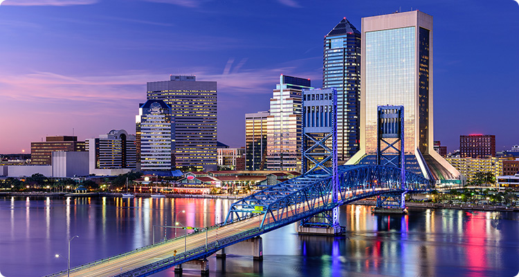 Jacksonville downtown skyline.