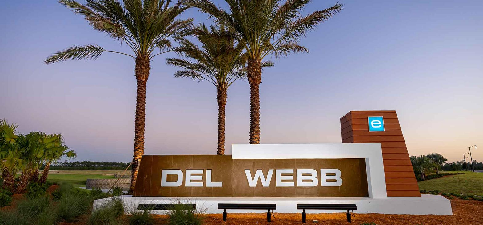 Del Webb eTown sign