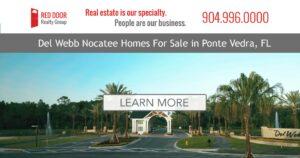 Del Webb Nocatee homes for sale banner